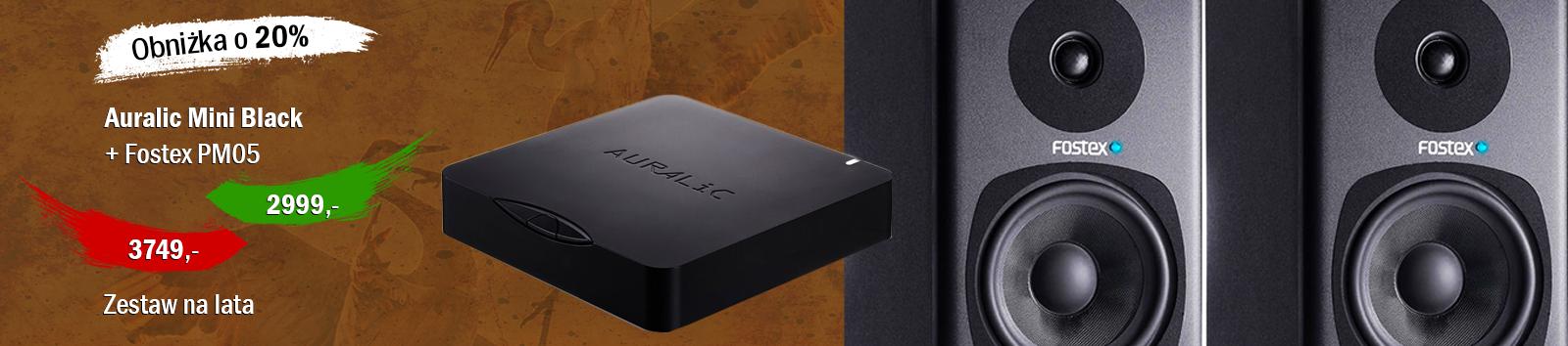 Auralic Mini Black + Fostex PM05